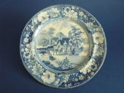Staffordshire 'Family and Mule' Pearlware Dinner Plate c1820 #2